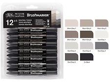 Winsor & Newton brushmarker 12 Marker Pen Brush Set-Toni neutro-Grigi