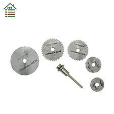 6pc HSS Circular Saw Blades Rotary Tool Cutting Discs Wheels 3mm Mandrel