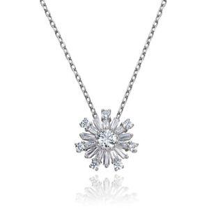 Kette Halskette Silber 925 mit 23 Swarovski Zirkonia rosegold Damen Mädchen NEU