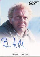James Bond Heroes & Villains Bernard Horsfall Autograph Card