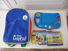 LEAPFROG - MY FIRST LEAP PAD - CONSOLE / RUCKSACK / 3 BOOKS / CARTRIDGES - BLUE