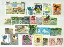MTD B77 Mongolia Lithuania ++ 25v Wild Animals Tiger Lion Leopard