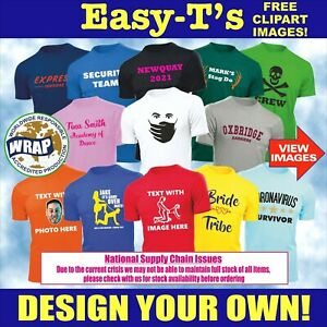 Personalised Custom Printed T Shirt Printing Design Your Own Stag Do Hen Party