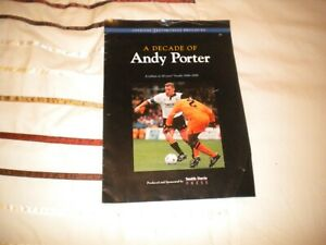 PORT VALE V DERBY COUNTY ANDY PORTER TESTIMONIAL 8-5-1996