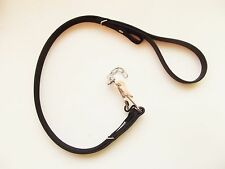 QUICK RELEASE DOG SLIP LEAD.BLACK BIOTHANE Lurcher greyhound whippet coursing