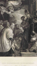 The Consecration of Saint Nicholas by Veronese- 1832 Engraved Print Plus BONUS