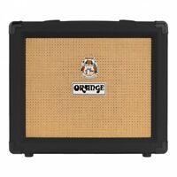 "Orange Amps Crush 20 Guitar Combo Amplifier 20-Watt 2-Ch 1x8"" BLACK w/ CabSim"