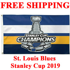 St. Louis Blues Stanley Cup Champions 2019 Flag Banner 2 SIDED 3x5 ft Hockey NHL