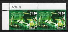 AUSTRALIA 1997 Emergency Services AMBULANCE 1v Corner Pair MNH