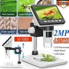 USB 1000X 1080P Digital Mikroskop Microscope Lupe 4.3