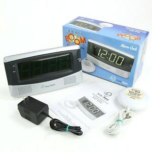 Sonic Alert SA-SB300SS Sonic Boom Alarm Clock Hard of Hearing Deaf Bed Shaker