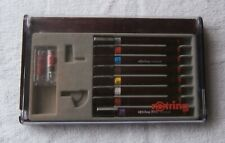 More details for vintage rotring isograph professional draughtsman's pen set in original box