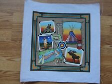 Camping Outdoors Great Plains Travel Memory Handpainted Needlepoint Canvas 2143