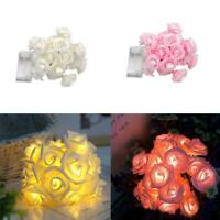 20LED Christmas Decor Rose Flower Fairy Wedding Garden Party String Lights HOT