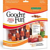 TRIPLE FLAVOR KABOBS Dog Treats Healthy Gourmet Chicken Duck Good'n'Fun 18 Pack