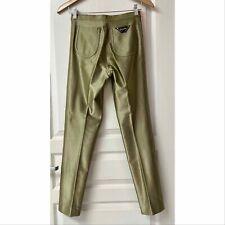 Vtg 70s LE GAMBI Gold Stretch Shiny Disco Skinny Pants USA 2 7/8