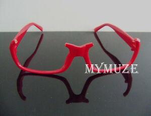 Puella Magi Madoka Magica Homura Akemi Red-Frame Cosplay Glasses Props