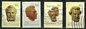 AUSTRALIA -  1983 - SCULPTURED BUSTS SET Used Stamps WYSIWYG
