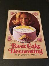1975 Basic Cake Decoration The Wilton Way,Vintage Cookbook