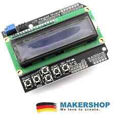 LCD 1602 Keypad Display Shield Arduino Uno Mega2560 HD44780 Modul (Blau)