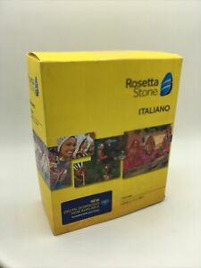 ROSETTA STONE Italian Version 4, Level 1, 2, 3, 4, 5 (1-5) Italiano, NIB Sealed