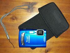 Olympus Tough TG-310 14.0-MP Digital Camera Blue Shockproof/Waterproof & Extras