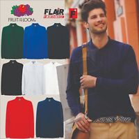 Fruit Of The Loom Men's Premium Long Sleeve Polo, 8-Colour
