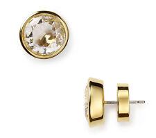 MICHAEL KORS MKJ1056 Gold Clear Cubic Zirconia Crystal Stud Earrings MKJ1056710
