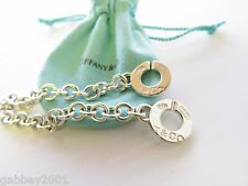 """Tiffany & Co 1837 Circle Clasp Toggle Bracelet Sterling Silver .925 7.5"""" w Pouch"""