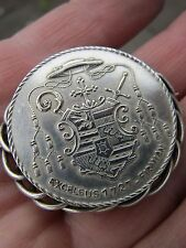 Antique Pin Silver Brooch (medal), says: EXCELSUS 1727-FIRMIAN.