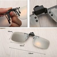 1 Pair Clip On Type Passive Circular Polarized 3D Glasses Clip For 3D TV Movie