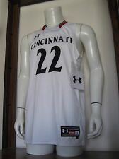 L Men Under Armour #22 Cincinnati Bearcats NCAA Basketball Jersey White NWT