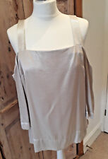 NEXT Cream Gold Cold Shoulder Smart Evening Party Top Plus Size 20 BNWT RRP £26
