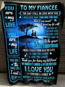 Fiance To Fiancee You Are The Only I Want By My Side Sherpa Blanket
