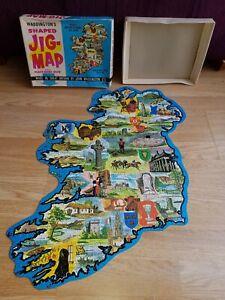 IRELAND Shaped JIG MAP No. 558 John WADDINGTON Vintage 1960s JIGSAW Box Complete
