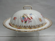 Antique 1890 Thomas Goode London Covered Floral Muffin Dish,made by Minton China