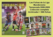 Mundicromo Fichas de la liga 2008-2009 Colección completa de 666 fichas