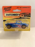 Matchbox Superfast '62 Corvette No. 72 Sealed Box VGC - Free P&P