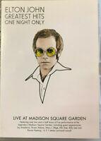 ELTON JOHN GREATEST HITS One Night Only DVD