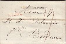 Lettre ST Petersbourg pour Bordeaux >> Marque Rouge WESEL TTB 1813 Cover Russia