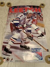 NY Rangers Brian Leetch Vintage NHL Poster 1994