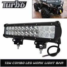 "Fit Polaris RZR Sportsman 570 John Deere ATV UTV 12"" COMBO LED WORK LIGHT BAR"