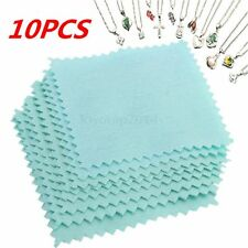 10pcs Silver Polishing Cloth Jewelry Cleaning for Platinum Gold Sterling Silver