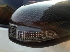 Carbon Fiber Black Accessories Side Door Mirror Cover Trim For Toyota C-HR 16-20