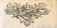 Cul de lampe Henri IV muni du Saint-Esprit épée caducée deux bâtons Bourbon
