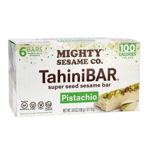 Tahini Bar Super Seed Sesame Bar Pistachio (1) Box 6 Bars