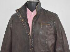 Designer Faux Leather Motorcycle Jacket Womens Medium Vintage Biker Jacket Look