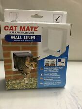 Cat Mate Cat Flap Wall Liner - White - Paintable Plastic Material Best In 2020