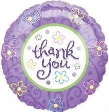 THANK YOU balloon pretty lavender lilac design thanks helium foil balloon