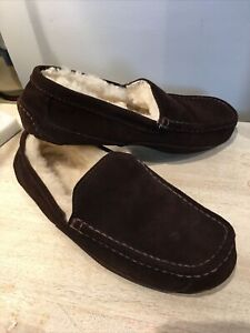 Slippers Wicked Good Brown Shearling Mens size 9- CLEAN!!!!
